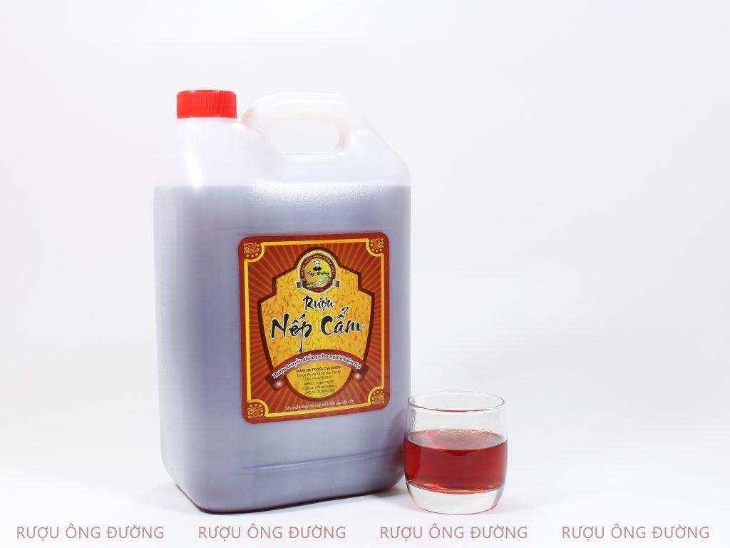 Rượu nếp cẩm mang thương hiệu Ông Đường